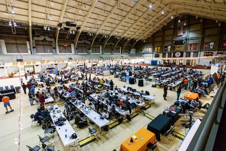 The lambert field house as the hacking space for BoilerMake III