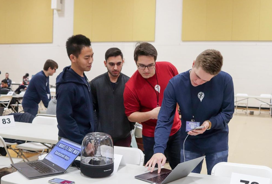 The Co-Rec full of hackers during BoilerMake VII